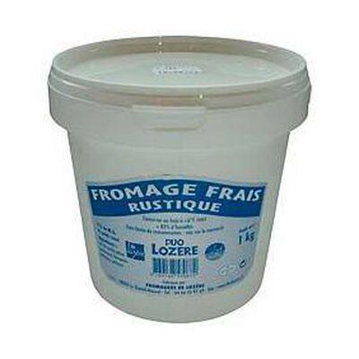 Fromage frais rustique au lait pasteurisé DUO LOZERE, 6%MG, 1kg
