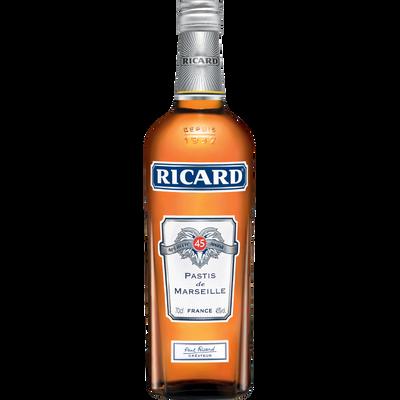 Pastis RICARD, 45°, bouteille de 70cl