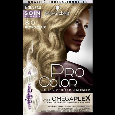 Coloration blond clair 8.0 PRO COLOR
