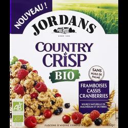 Céréales country crisp framboise/cassis/cramberries bio JORDANS 400g