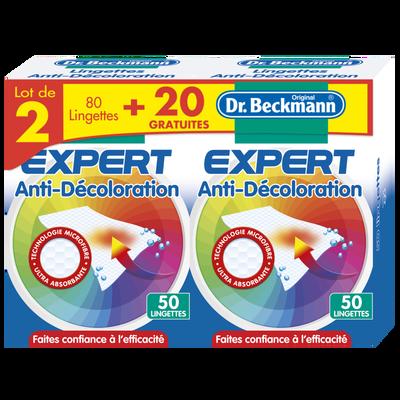 Lingettes anti-décoloration BECKMANN microfibre 40+10 x2