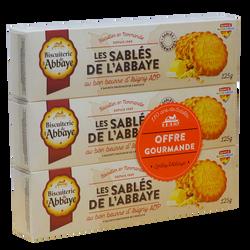 Sablés au beurre Abbaye étui 3x125g offre spéciale