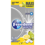 Freedent Freedent Multipack 6x10 Dragées Maxi Format - White Fruits