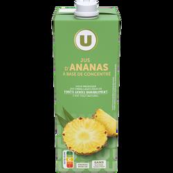 Jus à base de concentré d'ananas U, 1l