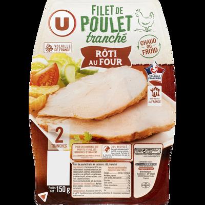 Filet de poulet rôti au four U, 2 tranches, 150g