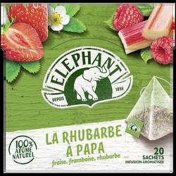 Infusion fraise framboise rhubarbe ELEPHANT, sachets x20, 38g