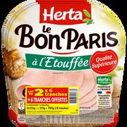 Herta Jambon De Paris Dd Sans Gluten Le Bon Paris À L'étouffé 2x255g 1 Offerte, Soit 765g