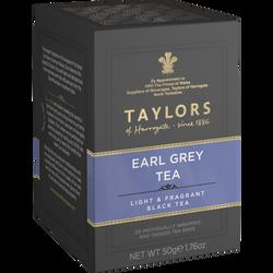 Thé earl grey TAYLORS, 20 sachets de 50g