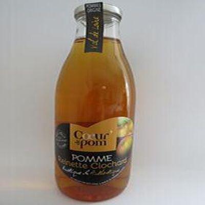 Pomme Reinette clochard 100% pur jus pressé, Coeur de pom' blle 1 litre