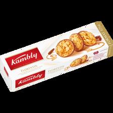 Biscuits florentins aux amandes caramélisées nappé de chocolat au laitKAMBLY, paquet 125g