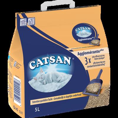 Litière pour chat agglomérante CATSAN plus, 5l