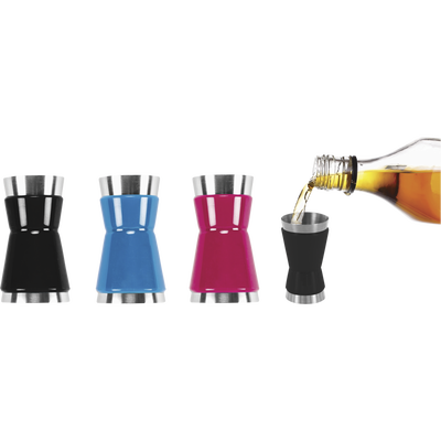 Concept spiritueux doseur à alcool en inox 2 en 1, coloris assortis
