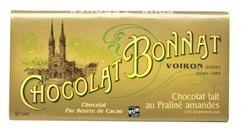 CHOCOLAT AU LAIT PRALINÉ-AMANDES 100G - BONNAT CHOCOLATIER