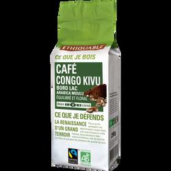 Café pure moulu origine Congo Bio ETHIQUABLE, 250g