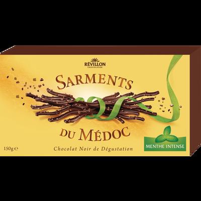 Sarments du Médoc chocolat noir menthe REVILLON, 150g