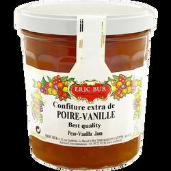 Confiture extra poire vanille ERIC BUR, 370g