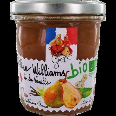 Préparation de poires williams à la vanille bio cuite aux pommes et auchaudron LUCIEN GEORGELIN, 320g