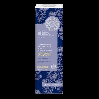 Crème de nuit pour le visage à la rhodolia rosea NATURA SIBERICA, tubede 50ml