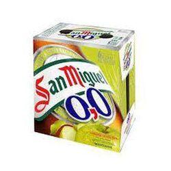 PACK DE BIERE SAN MIGUEL, sans alcool aromatisées à la pomme - 6x25CL