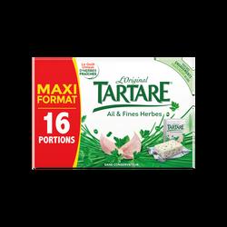 Fromage au lait pasteurisé TARTARE ail et fines herbes, 32,2%MG, x16 soit 50g
