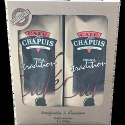 Café tradition moulu CAFE CHAPUIS, 2x250g