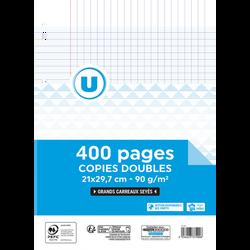 Copie double perforée U, seyes, 21x29,7cm, 400 pages