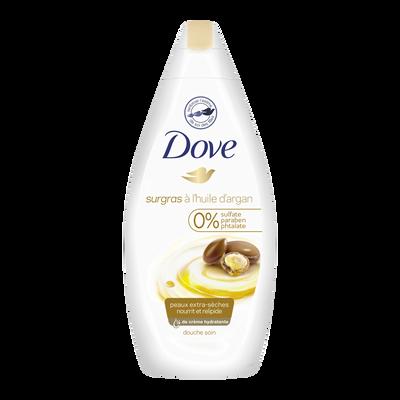 Gel douche surgras soin & huile pour peaux sèches DOVE, flacon de 400ml