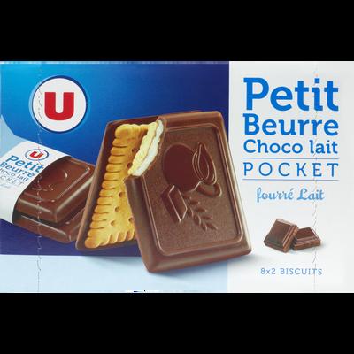 Biscuits petit beurre choco lait fourré U, boîte de 268g