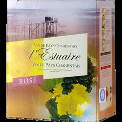 """Vin rosé de pays Charentais """"estuaire"""", fontaine à vin de 3l"""