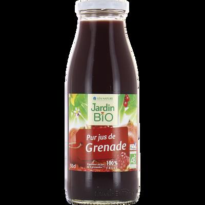 Pur jus de grenade sans sucres ajouté bio JARDIN BIO 50cl