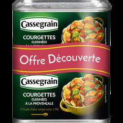 Courgettes cuisinées à la provençale huile d'olive vierge CASSEGRAIN,2 boîtes de 375g
