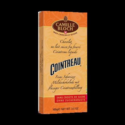 Chocolat au lait au Cointreau CAMILLE BLOCH, tablette de 100g