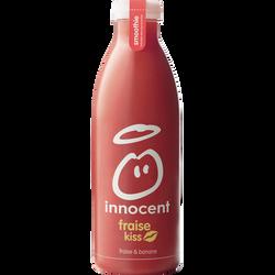 Smoothie fraise, banane INNOCENT, bouteille en plastique de 750ml
