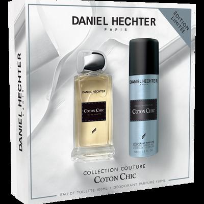 Coffret coton chic eau de toilette DANIEL HECHTER, 100ml+déodorant, 150ml