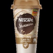 Boisson lactée à l'extrait de café NESCAFE Shakissimo latte espresso,190ml