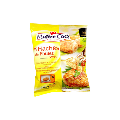 Hâché de poulet rôti MAITRE COQ, sac x8 soit 720g