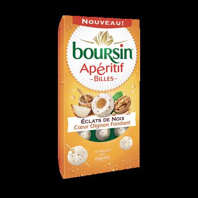 Spécialité fromagère pasteurisé figue et aux 3 noix, coeur oignon BOURSIN, 33%MG, 75g