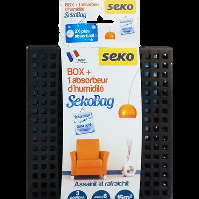 Sachet absorbeur SEKOBAG avec box noire, 150g, sans bac à vider, 2 fois plus de pouvoir absorbant