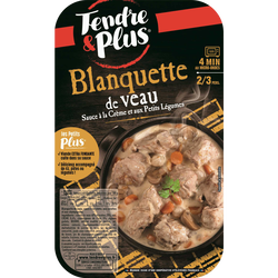 Blanquette de veau cuite, TENDRE & PLUS
