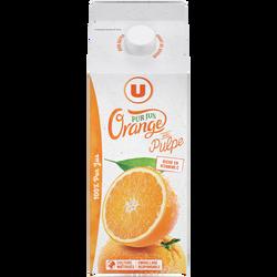 Pur jus réfrigéré orange pulpée flash pasteurisé U bk 1,75L