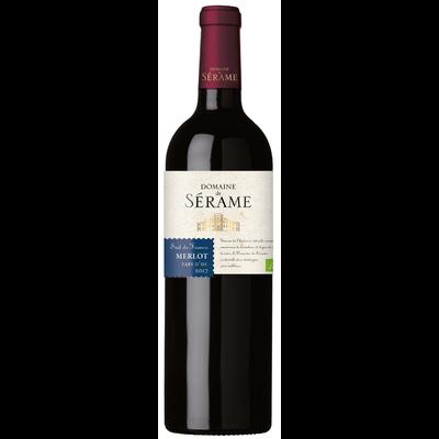 """Vin rouge IGP Pays d'Oc Merlot BIO """"Domaine de Serame"""", 75cl"""