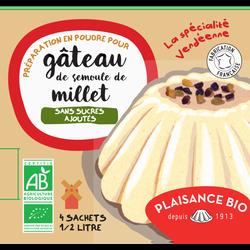 Préparation pour gâteau semoule de millet sans sucres PLAISANCE BIO, 4sachets, 168g