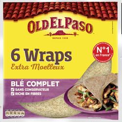 Wraps au blé complet OLD EL PASO, paquet de 350g