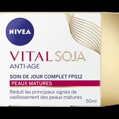 Soin jour anti âge complet soja NIVEA Vital, pot de 50ml