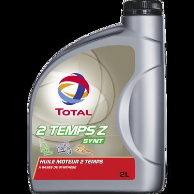 Huile de synthèse 2 Temps Z TOTAL,  2 litres