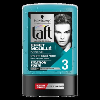 Gel coiffant tenue extra forte effet mouillé styling TAFT, tube de 300ml