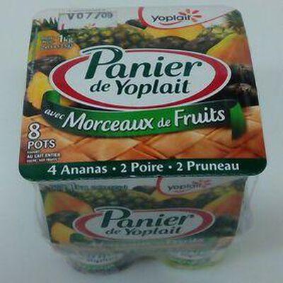 PANIER DE YOPLAIT ANANAS, POIRE, PRUNEAUX 8X125G