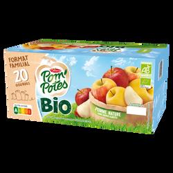 Pom'potes sans sucre ajouté pomme bio MATERNE, 20x90g