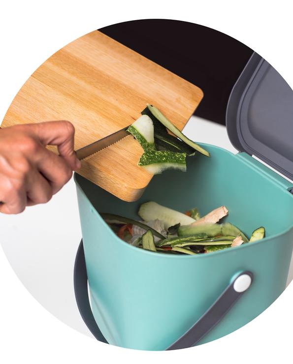 Poubelle compost U MAISON en polypropylène 9l vert-anse pourPoubelle compost U MAISON en polypropylène 9l vert-anse pour