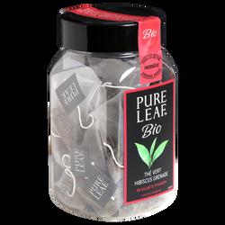 Thé vert hibiscus grenade bio PURE LEAF, boîte de 15 sachets